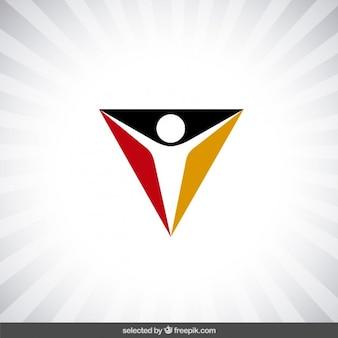 Triangular charity logo