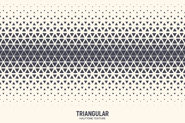 Triangular halftone geometric pattern background