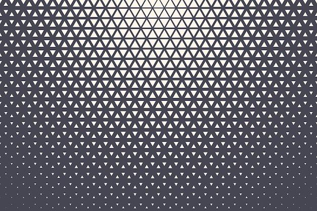 三角形のハーフトーンパターン幾何学的テクスチャ技術抽象的な背景