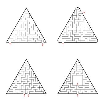 三角形の迷路。 Premiumベクター