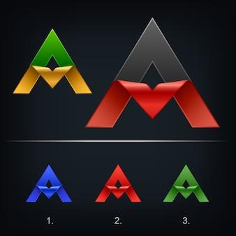 삼각형 문자 a 로고 템플릿