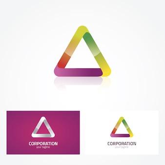 Triangular logo design