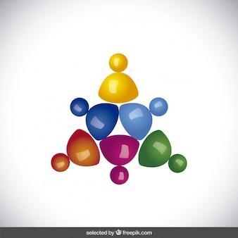 Triangolare logo realizzato con avatar in 3d