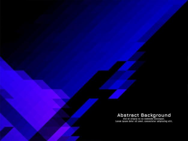 三角形のモザイクパターン青い色の幾何学的な背景ベクトル
