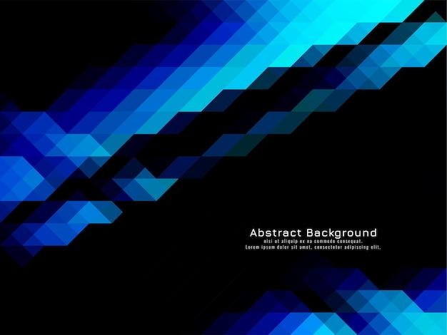 三角形のモザイクパターン幾何学的な青い暗い背景ベクトル