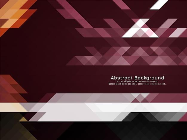 Triangular mosaic pattern retro geometric background vector