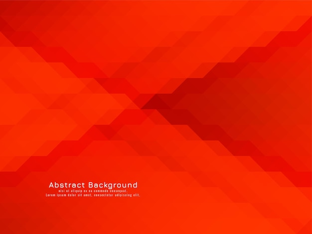 Triangular red color mosaic pattern geometric background vector