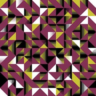 Треугольный бесшовный узор розовый черный желтый