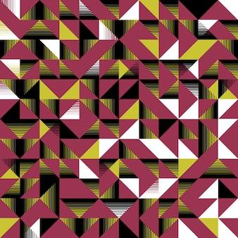 三角形のシームレスなパターンピンクの黄色と黒 Premiumベクター