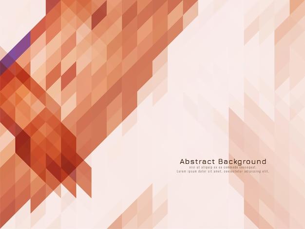 三角形の柔らかい茶色のモザイクパターン幾何学的な背景ベクトル