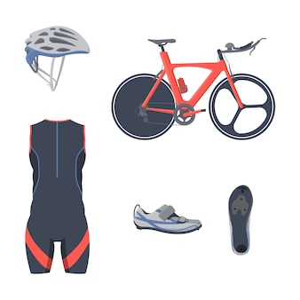 Triathlon equipment set. cycle clothing