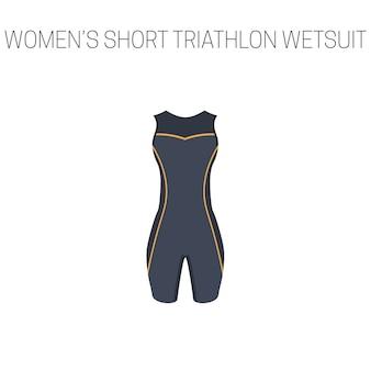 Triathlon women's short sleveless wetsuit