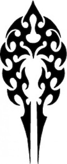 Tribal arrow shape tatoo template icon vector