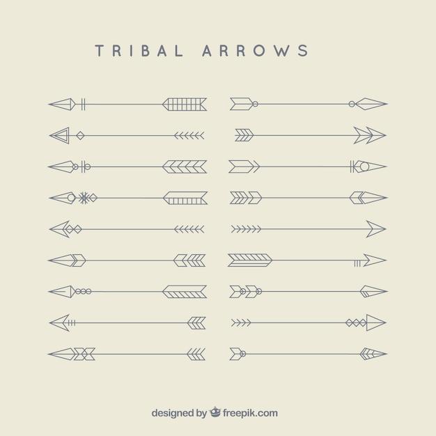 部族の矢印