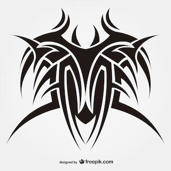 Tribal art tattoo vector