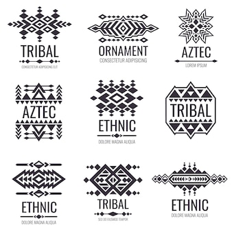 Tribal aztec vector pattern. indian graphics for tattoo designs