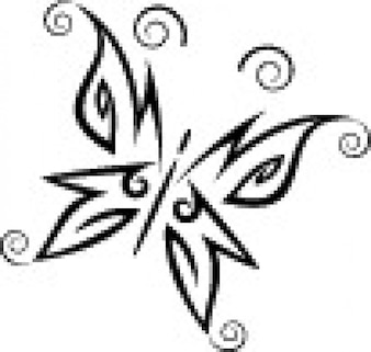 Tribal butterfly simple style vector