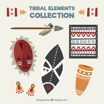 Tribal decorative elements set