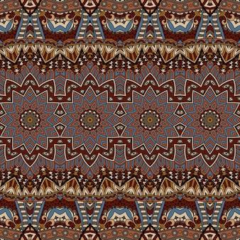 部族民族ボヘミアファッション抽象的なインドのパターン