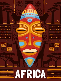 Tribal ethnic mask template