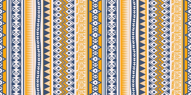 Tribal ethnic pattern seamless stripes symbols