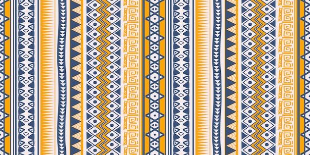 Племенные этнические картины бесшовные полосы символы