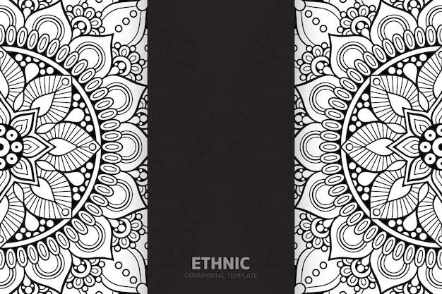 Tribal ethnic pattern semless design mandala