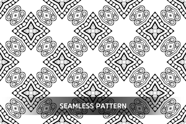 Tribal ethnic pattern semless design mandala