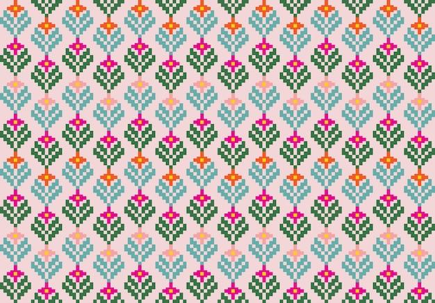 Бесшовный фон из трибальных цветов, этнический стиль
