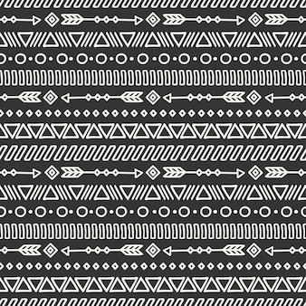Tribal hand drawn line mexican ethnic seamless pattern