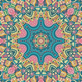 Племенной индийский фестиваль яркий красочный цветок мандалы ар