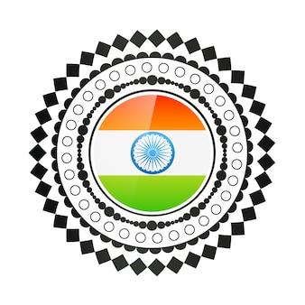 Векторный креативный дизайн индийского флага