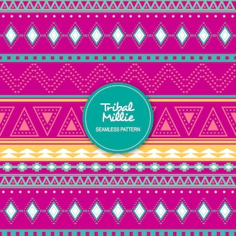 Tribal millie seamless pattern