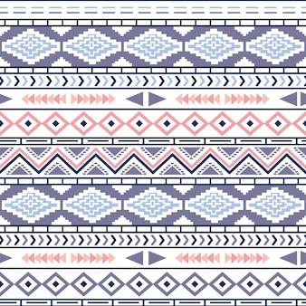 部族のナバホ族のシームレスなパターン。アステカの幾何学模様。エスニック