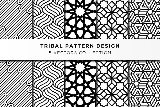 Tribal pattern design collection