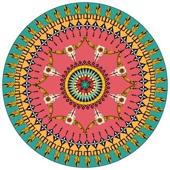 Tribal round ornamental