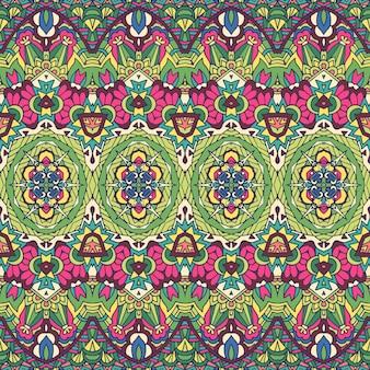 Шаблон племенных бесшовные красочные геометрические фигуры. этническая полосатая текстура