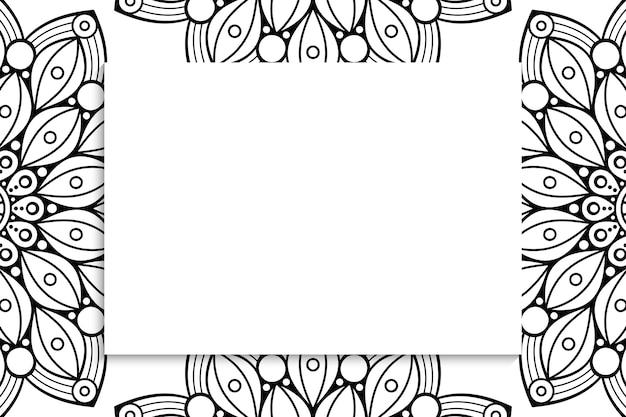 部族のシームレスなパターン-白い背景の上のアステカの黒い看板
