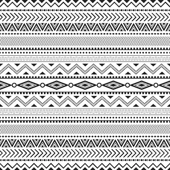 Tribal seamless pattern geometric seamless