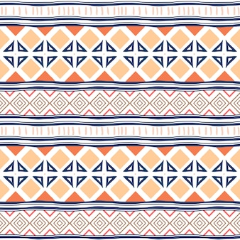 Tribal seamless pattern with ethnic colorful geometric