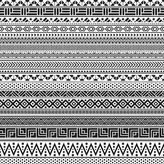 部族のシームレスパターン
