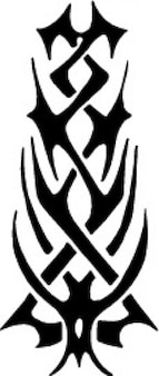 Tribal shape tatoo template icon vector