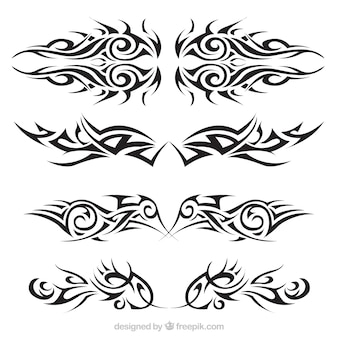Tribal tattoos set