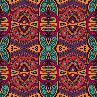 部族ベクトル抽象的な幾何学的な民族のシームレスなパターン装飾