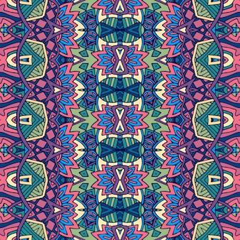 部族のヴィンテージ抽象的な民族のシームレスなパターン装飾。