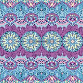부족 빈티지 추상적 인 기하학적 민족 원활한 패턴 장식. 인도 바 섬유 디자인