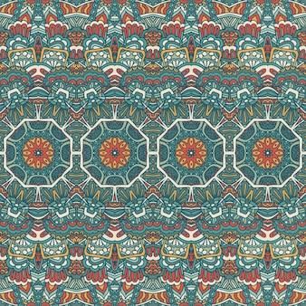 Племенные старинные абстрактные геометрические этнические бесшовные модели орнамент. индийский текстильный дизайн в полоску