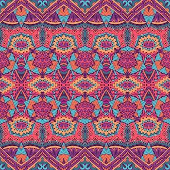 Племенные старинные абстрактные геометрические этнические бесшовные модели орнамент