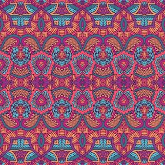 部族ヴィンテージ抽象的なベクトル幾何学的な民族のシームレスなパターン装飾