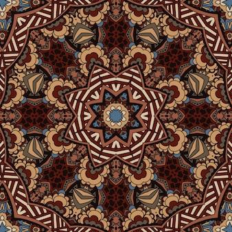 部族のヴィンテージエスニックシームレスパターン装飾デザイン